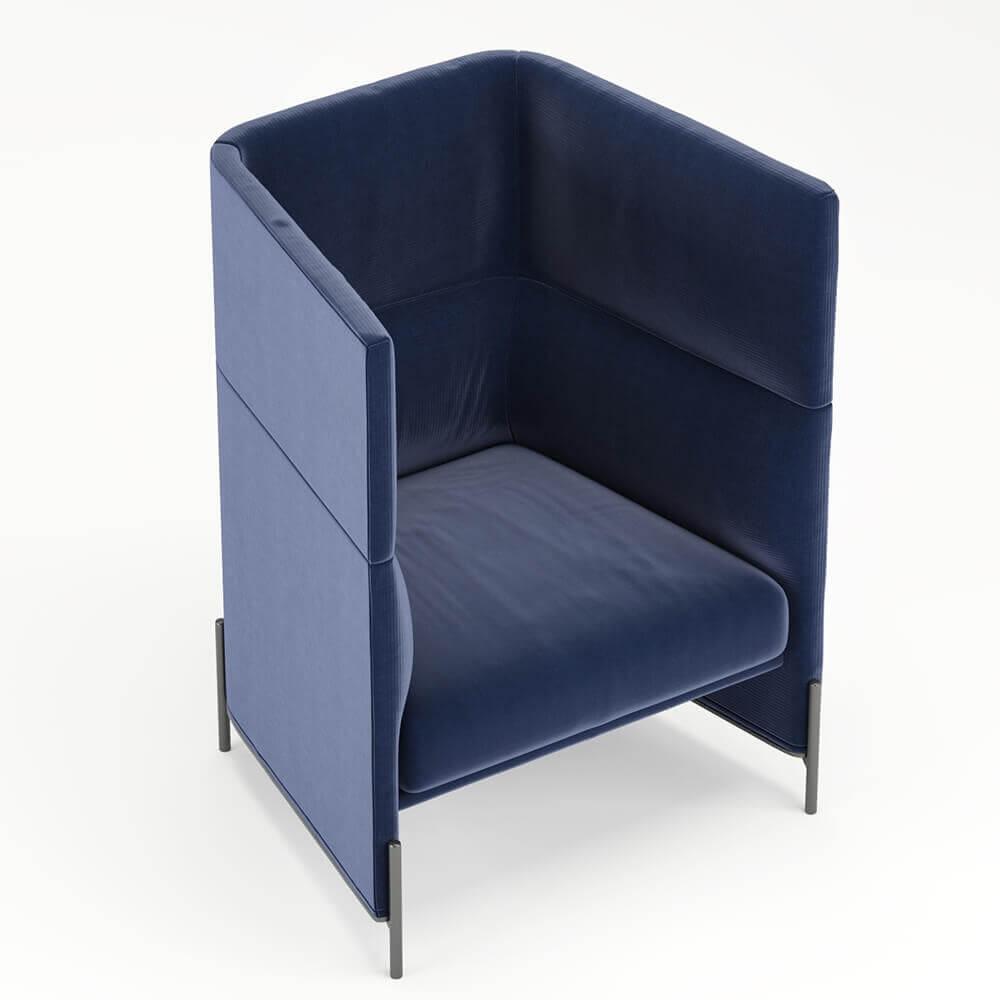 Algon High Back Chair от Arflex. Free 3D model.