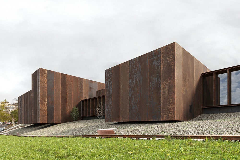 Soulages Museum 3Д визуализация