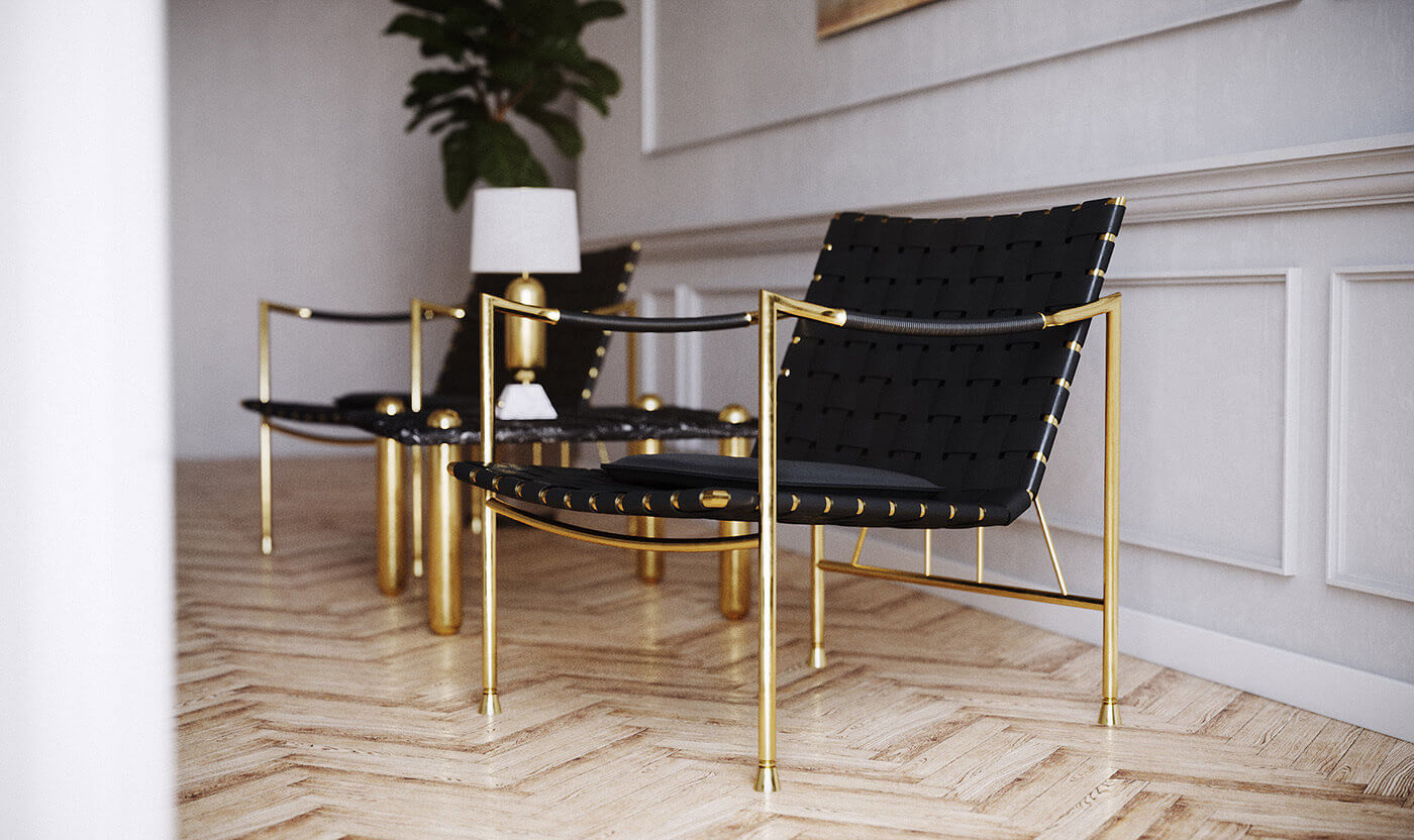 Thebes Lounge Chair. Бесплатная 3d модель кресла