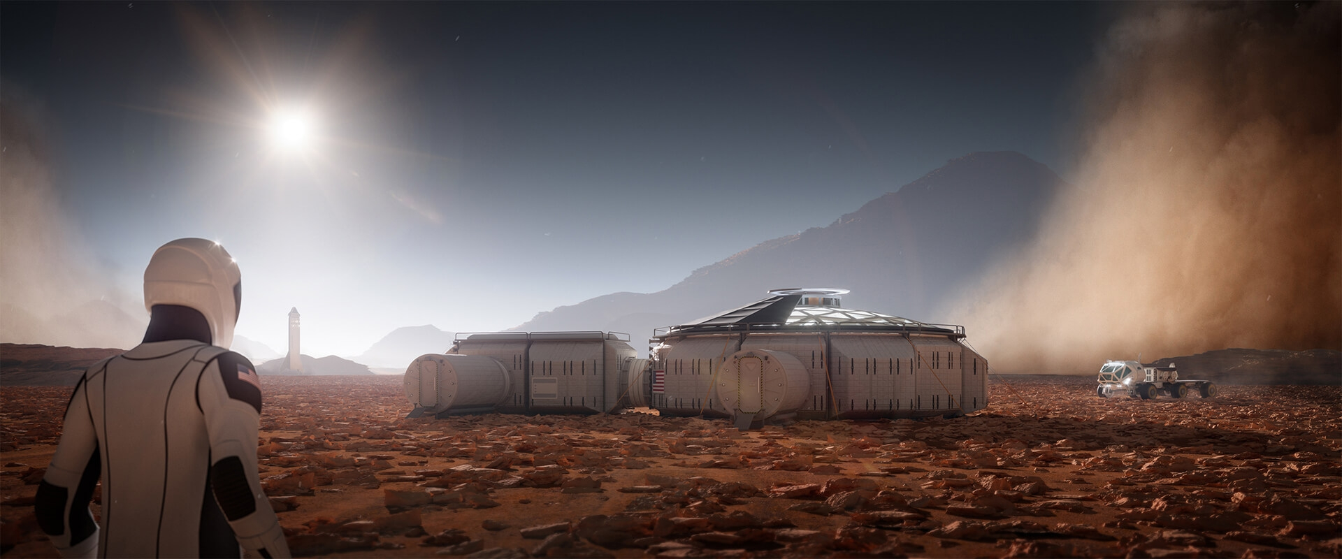 Mars Render Rendering Planet Space 3D Corona 3Ds Max Red Martian